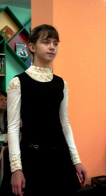 Волоцкова Даря  6 класс 1 место